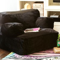 Black Luxe Fur Eco Lounger