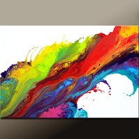 Abstract Canvas Art Painting 36x24 Original Painting Contemporary Gallery Wrapped Art by Destiny Womack - dWo -  Chase Your Dreams