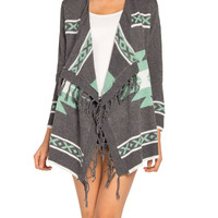 Native Fringe Cardigan - 2020AVE