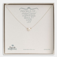 Dogeared 'Pearls of...' Boxed Pendan