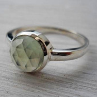 Prehnite Ring Rose Cut Prehnite Rin.. on Luulla