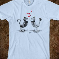 Skreened - cute t-shirt, cute cat t-shirt, love cat, valentine&#x27;s day