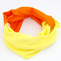 Hot Yellow and Orange Stretchy Headband wholesale