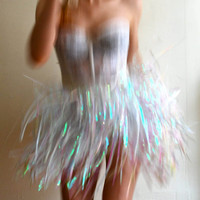 Iridescent Fringe Skirt