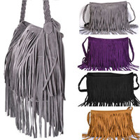 Tassel Celebrity Fringe Shoulder Messenger Cross Body Bag Handbag #5 Colors