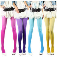 Women Vintage Sexy Ombre Watercolor Stockings Tights Leggings Pantyhose 7Colors