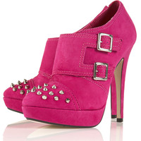 STEREO SUEDE STUD SHOE BOOTS