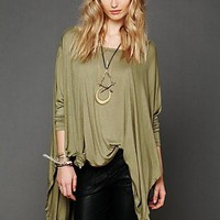 Free People Womens Big Dipper Oversized Tee -