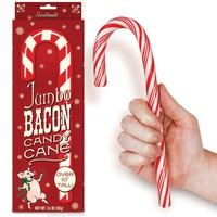 Jumbo Bacon Candy Cane - Whimsical & Unique Gift Ideas for the Coolest Gift Givers