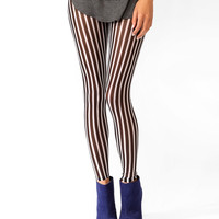 Striped Mesh Leggings