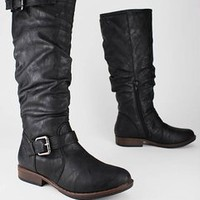 slouchy leatherette boot $30.80 in BLACK BROWN OLIVE - New Shoes | GoJane.com