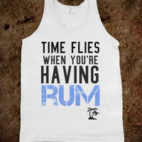 Time flies when you're having rum - The Kay Designs