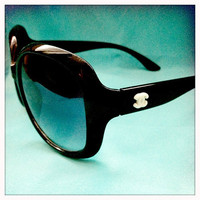 Black Chanel Inspired Big Sunglasses