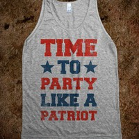 Time to Party Like A Patriot (Vintage Tank) - Vintage America Party Shop