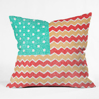 DENY Designs Home Accessories | Nick Nelson Zig Zag Flag Throw Pillow