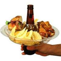The Go Plate Reusable Food & Beverage Holder: 21 Plates