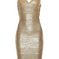 Bqueen Foil Print Bandage Dress H150J