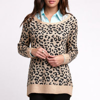 Nollie Leopard Tunic Sweater at PacSun.com