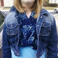 Key hole Scarflette/neck warmer  from Wild Ivy Design