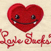Vampire Love Sucks embroidered baby bib by MorningTempest on Etsy