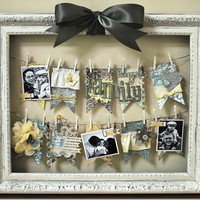 must do crafts / Adorable way to hang several pictures in one frame