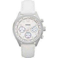 Fossil Flight Leather Watch - White: Watches: Amazon.com