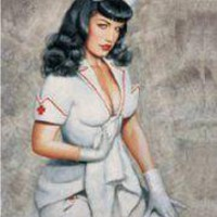 ROCKWORLDEAST - Bettie Page, Flag, Nurse
