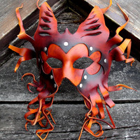 Cthulhu's Minion - Handmade Leather Mask