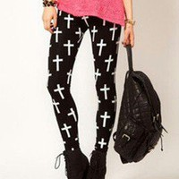 Cross leggings  by COCO_RIBBON
