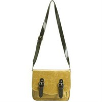 Shiraleah Harper Mustard Vegan Crossbody Satchel