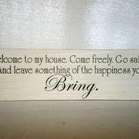 Welcome Quote House Decor Wood Sign