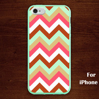 mint green iPhone 5 Case, Chevron iphone 5 case, Chevron, geometric graphic iphone 5 case