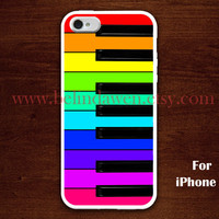 piano iPhone 5 Case, colorfull piano iphone 5 case, Piano Keys, Rainbow piano graphic iphone 5 case