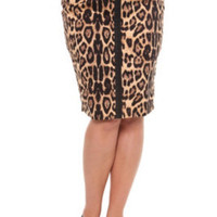 Tripp - Leopard Pencil Skirt | Bottoms