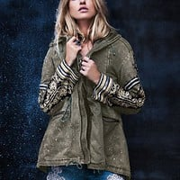 Womens Golden Quills Military Parka