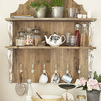 country style wooden shelf unit by primrose &amp; plum | notonthehighstreet.com