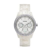 FOSSIL® Watch Styles Neutral Watches:Watch Styles Stella Resin Watch - Pearlized White ES2790
