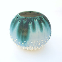 Modern Nautical Minimalist Porcelain Sea Urchin by blueroompottery