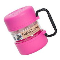 Vittles Vault Travel Container for Pet Food Pink | z