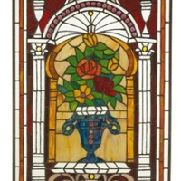 Home Decor | L&#x27;Arc des Fleurs Stained Glass Panel