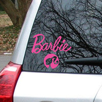 Barbie Car Decal Sticker # 1