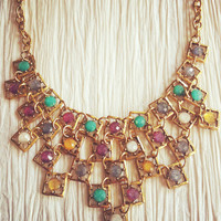 Square Jewel Necklace – Modeets