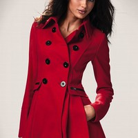Skirted Peacoat
