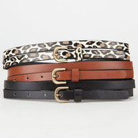 Skinny Belts 3 Pack         208356149 | Belts | Tillys.com