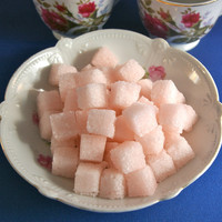 Rose Petal Flavored Sugar Cubes for Tea Parties, Champagne Toasts, Favors, Coffee, Tea, Berries, Cider, Lemonade