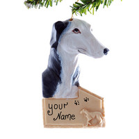 Greyhound personalized Christmas ornament - pet lovers personalized holiday ornament