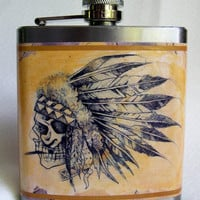 American Indian Flask - Feathers and Bone