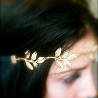 Gold Feather Headband
