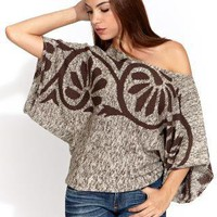 Eternal Sunshine Creations Asha off shoulder top in moca mix