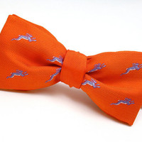 SALE - 1/3 Off - Hare Motif Bow Tie - Pure Silk - &#x27;March&#x27;